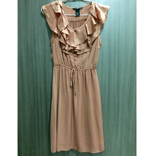 Original H&M Brown Ruffle Sleeveless Dress