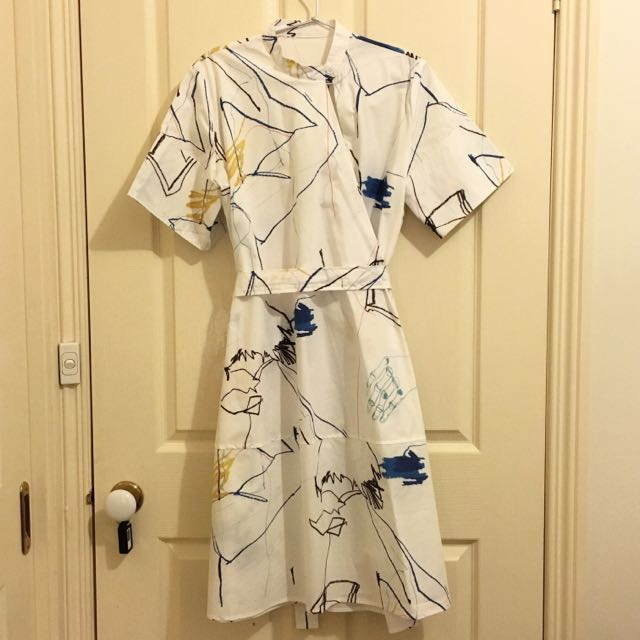 Overall Dress - Abstract Pattern
