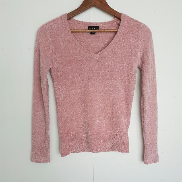 Pink Fuzzy Top