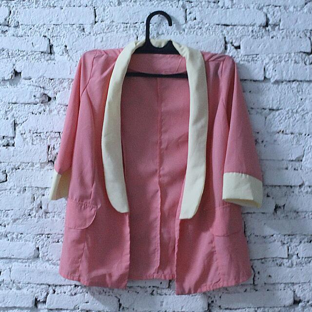 Pink Shiffon Blazer