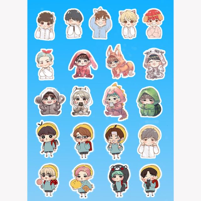 how to get bts stickers on line