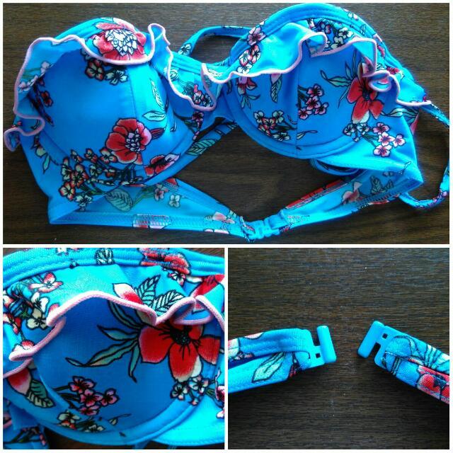 REPRICE Topshop Floral Bikini Top