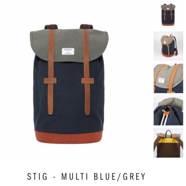 SANDQVIST Stig Multi Blue/ Grey Backpack