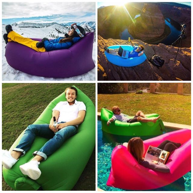 Self Inflating Portable Air Sofa Bed Furniture Sofas on Carousell