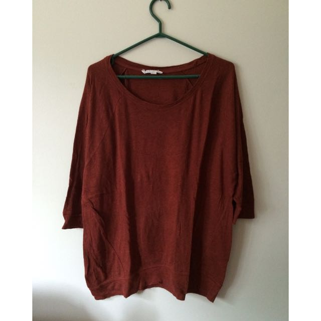 Soft Scarlet Oversized Shirt