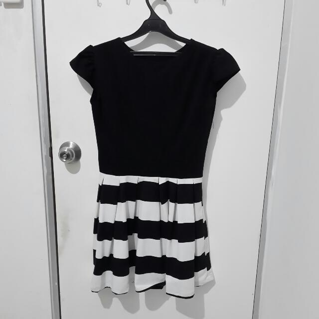 Stripe Black Dress