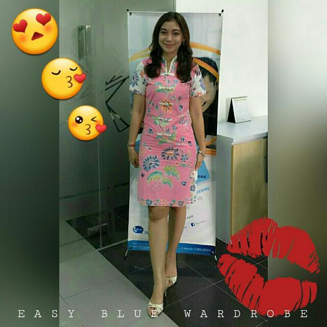 THANK YOU MY LOVELY CUSTOMER 😍😙😘 Wearing Dress Batik Encim Pink