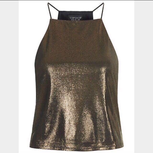 Topshop Metallic Bronze Cami