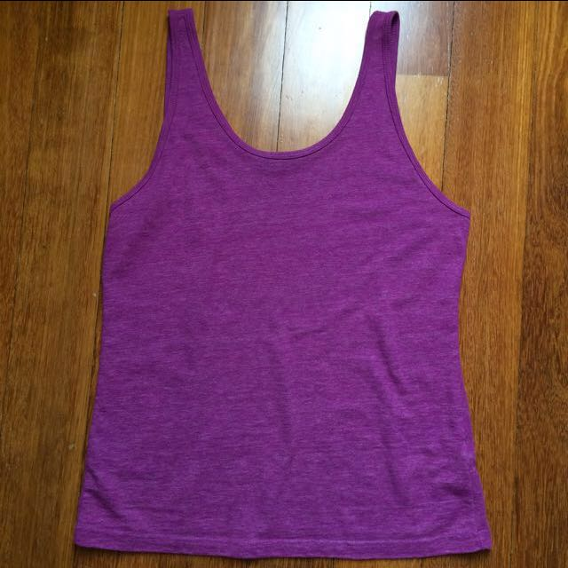 Topshop Purple Tank Top