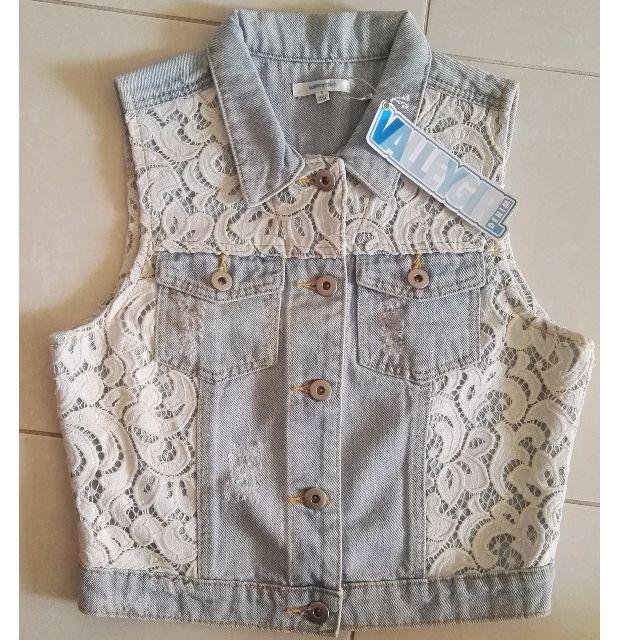 Valleygirl Lace Crop Vest