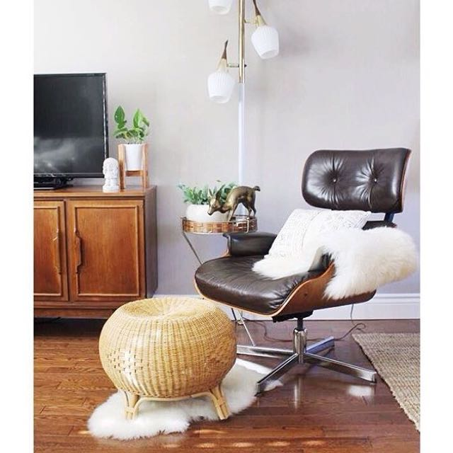 Vintage Eames-style Lounge Chair