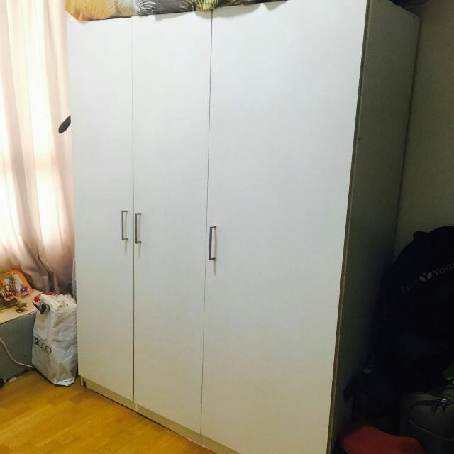 White Ikea Wardrobe (available 2nd week of August)