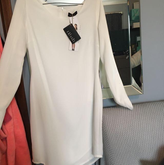 White Long Sleeved Dress