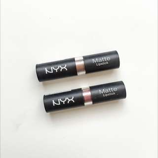 "NYX BUNDLE Matte Lipstick - ""Butter"" and ""Whipped Caviar"""