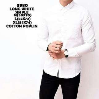 Kemeja Long White Simple