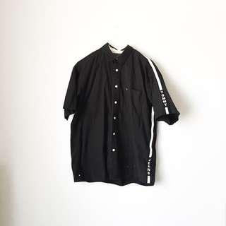 TOMMY JEANS HILFIGER Vintage Button Up Black In Large