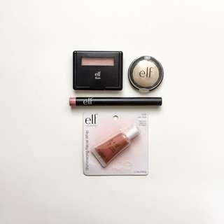 ELF BUNDLE - Blush, Single Eyeshadow, Matte Lip, Liquid Highligter