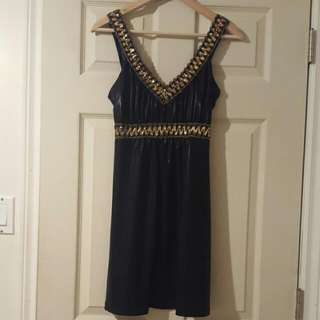 Black And Gold Sirens Dress