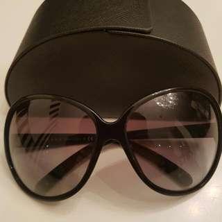 Genuine PRADA Jackie O large Black Sunglasses Ex Condition