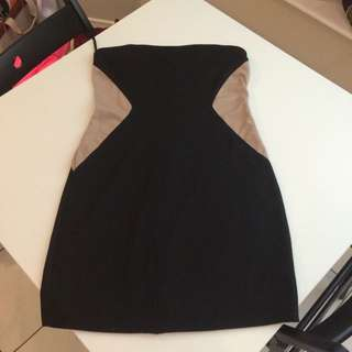 Black And Tan Tube Dress Forever 21
