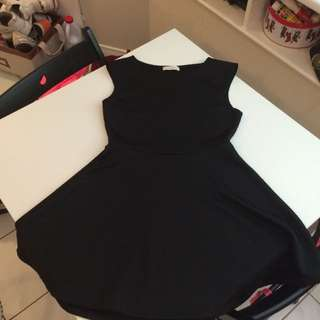 Black Quilted A-line Dress