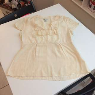 100% Silk Banana Republic Blouse