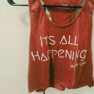 """Almost Famous Penny Lane """"It's All Happening"""" Crop Tank (from Harmony By Earthwinds)"""