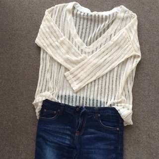 Striped Shirt & Jeans Set