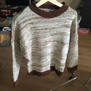 High Neck Boxy Style Knit Top