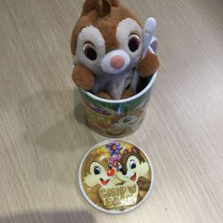 Chip & Dale Cup with Tea spoon & Small Dale Toy