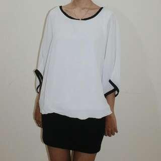 White Batwing Dress