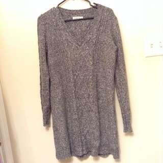 Heavy Knit Long Sweater L