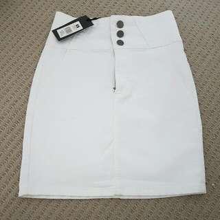 White Denim Skirt (Factorie)