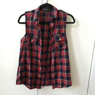 MISGUIDED Tartan Vest Size 8