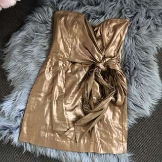 FRENCH CONNECTION Metallic Dress Size 8