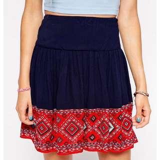 ASOS Navy Skirt