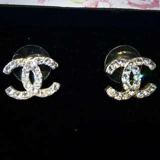 Chanel Diamond Stud Earrings