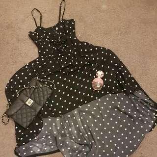 Polka Dot Maxi Dress Size 8