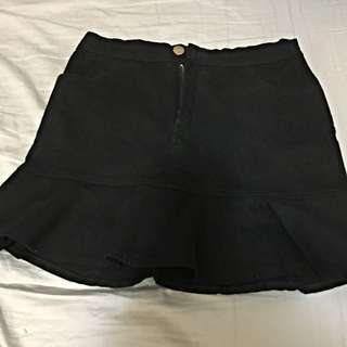 網路賣家pumi 黑 魚尾裙 牛仔裙 短裙 韓國空運、正韓、韓國連線 韓貨