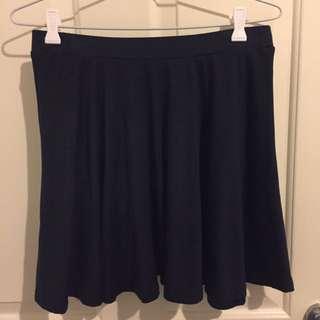 Emerson Navy Skater Skirt