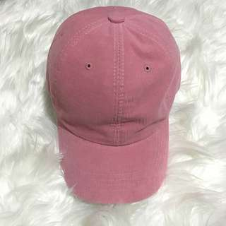 Pink Corduroy Cap