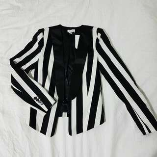 Witchery Striped Jacket Size 4