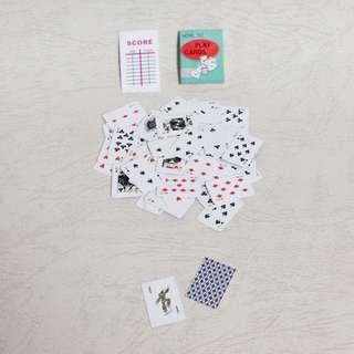 🚚 人偶公仔用迷你撲克牌 1:12 食玩 盒玩 場景道具傢俱 森林家族