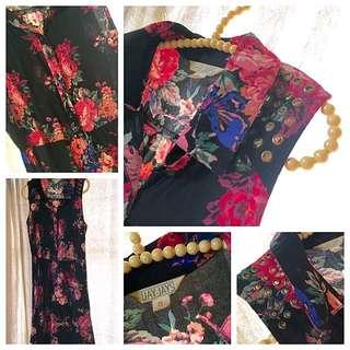 Jay Jays Metal Hole Shoulder Detail Floral Dress