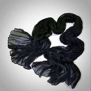 Black Soft Chiffon Scarf