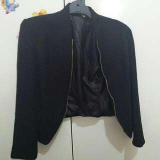 Ice Design Size L Tweed Look Blazer