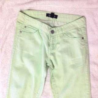 Forever 21 Mint Green Skinny Jeans