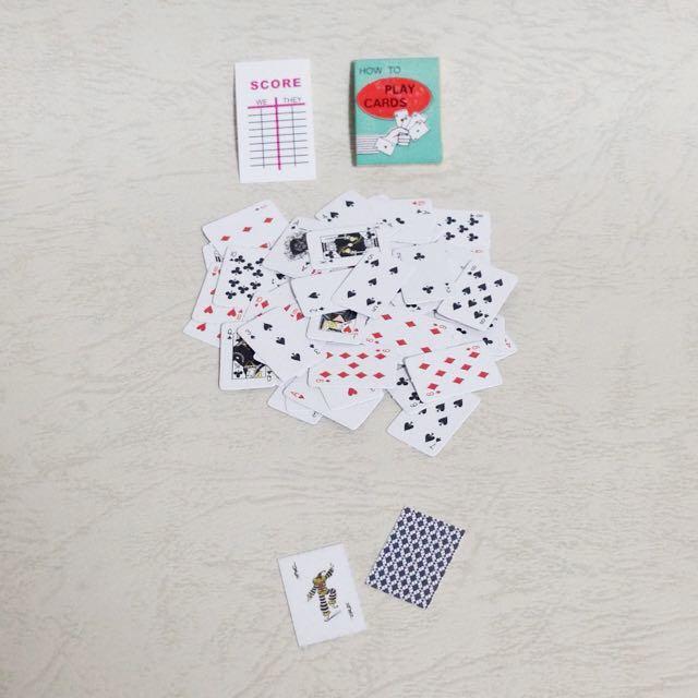 人偶公仔用迷你撲克牌 1:12 食玩 盒玩 場景道具傢俱 森林家族