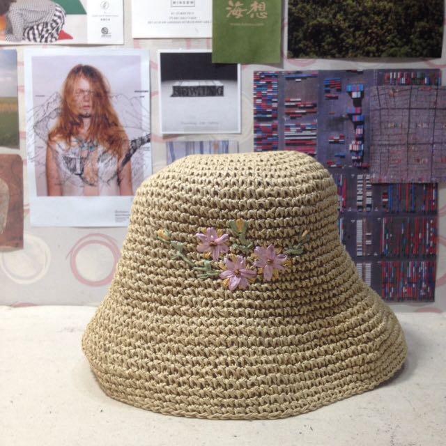 古著 編織漁夫帽🌸(可議價)