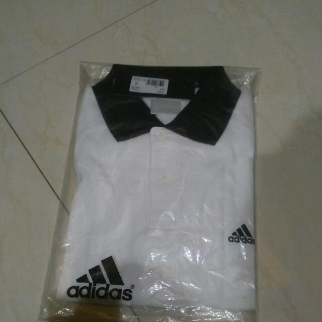 Adidas Polo Warna Putih Ukuran M